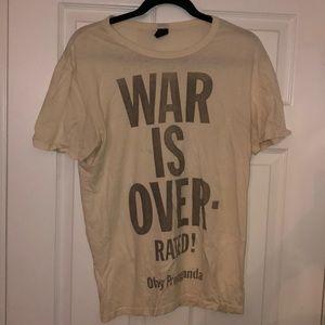 Obey Men's Cream T-Shirt